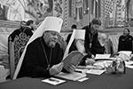 Валаамский монастырь, отмеченный подвигами многих поколений русских иноков, иногда называют Северным Афоном, о чем вспомнили и участники заседания синода  (фото: Игорь Палкин/РИА «Новости»)