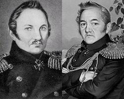 Фаддей Беллинсгаузен и Михаил Лазарев (фото: общественное достояние, Р.Г. Шведе)