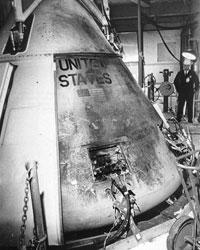 Аполлон-1 после пожара (фото: NASA)