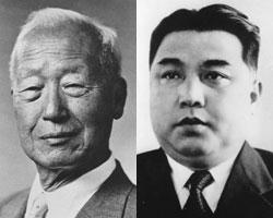 Ли Сын Ман и Ким Ир Сен (фото: Public Domain)
