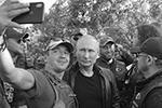 На байк-шоу в Крым прибыла рекордная колонна мотоциклистов из европейских стран(фото: Алексей Дружинин/пресс-служба президента РФ/ТАСС)