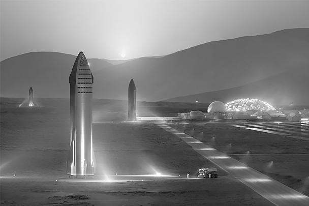 Кроме того, многоразовый корабль Starship предназначен для полетов на Луну и Марс. Он также будет выполнять роль второй ступени сверхтяжелой ракеты-носителя Big Falcon Rocket, над которой работает компания SpaceX
