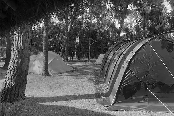 Палаточный городок в Центре русской культуры в Катманду