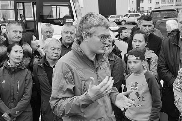 Владимир Солодов на встрече с жителями Камчатки