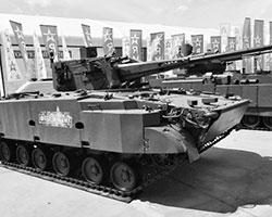 (фото: Зенитная самоходная установка  2С38,  оснащенная  57-мм зенитной пушкой)