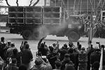 МАЗ-6317 с пусковой установкой для ударных беспилотных летательных аппаратов IAI Harop во время военного парада, посвященного окончанию конфликта в Нагорном Карабахе (фото: Валерий Шарифулин/ТАСС)