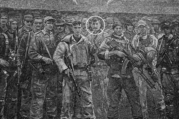 Мозаика в центральном храме Вооруженных сил. В центре – Владимир Ковтун