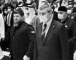 (фото: глава Чечни Рамзан Кадыров с вице-премьером  Украины Олегом Уруским)