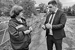 Депутат Ирина Дроздова и заместитель министра Роман Минуллин(фото: Юрий Васильев/ВЗГЛЯД)