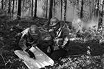 Ранее сообщалось, что лесной пожар в поселке Сангар Кобяйского района Якутии подошел к нефтебазе на расстояние двух километров (фото: Валерий Мельников/РИА Новости)