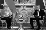 В основном лидеры сосредоточились на экономических отношениях двухстороннего характера. Владимир Путин назвал Германию одним из основных торгово-экономических партнеров России в Европе и мире(фото: kremlin.ru)