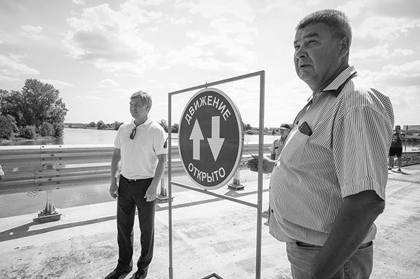 Открытие нового моста через реку Тинарку, июль текущего года