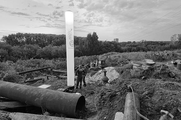 Оползень в Железнодорожном районе Ульяновска