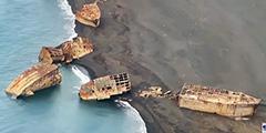 В районе японского острова Иводзима землетрясение подняло со дна затопленные корабли-призраки времен Второй мировой войны. Из-за сейсмической активности всплыли 24 остова судов