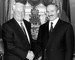 Б. Н. Ельцин и А. Г. Лукашенко, 1999 год (Фото: ИТАР-ТАСС)