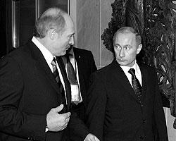 А. Г. Лукашенко и В. В. Путин, 2007 год (Фото: ИТАР-ТАСС)