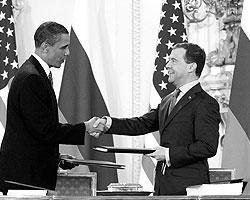 8 апреля 2010 года в Праге президенты России и США подписали исторический договор о сокращении ядерного оружия