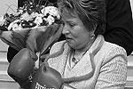 2005 год. Валентина Матвиенко встречается со знаменитым петербуржцем-чемпионом мира по боксу в тяжелом весе Николаем Валуевым(фото: ИТАР-ТАСС)