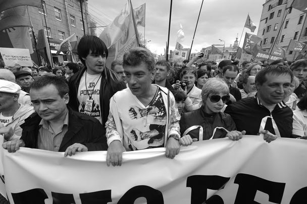 Возглавили одну из колонн Борис Немцов и Ирек Муртазин