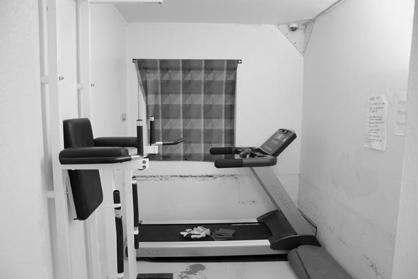 Для террориста специально переоборудовали одно крыло здания тюрьмы. Брейвику выделили три камеры: спальню, комнату для физических упражнений и кабинет