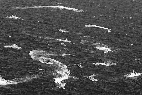 Спустя несколько часов морского боя, по информации представителей японской береговой службы, все рыболовецкие суда из Тайваня, а также сопровождающие их восемь тайваньских патрульных кораблей изменили свой курс