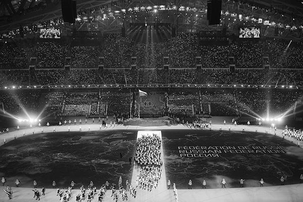 На стадионе «Фишт» присутствовали порядка 40 тыс. гостей
