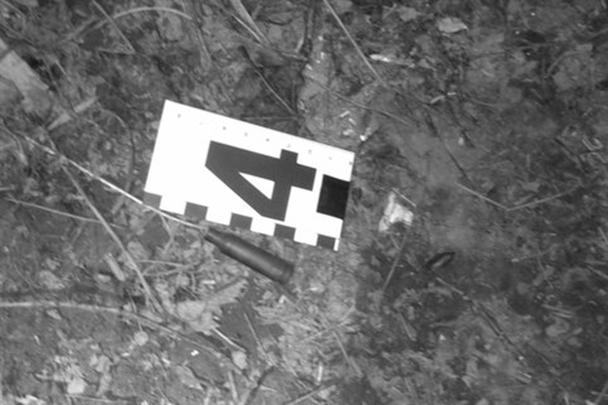 Гильзы, обнаруженные следователями на месте перестрелки, в которой был убит Александр Музычко