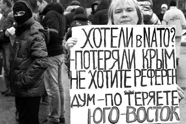 Протестующие в Харькове добиваются референдума, который должен определить судьбу Харьковской области