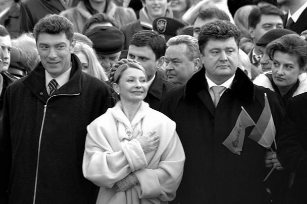 А это уже 2005-й. После первой оранжевой революции на Украине, во время инаугурации Виктора Ющенко