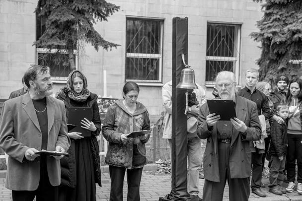Акция «Одесса. Окаянные дни», посвященная годовщине одесской трагедии, прошла у посольства Украины в центре Москвы