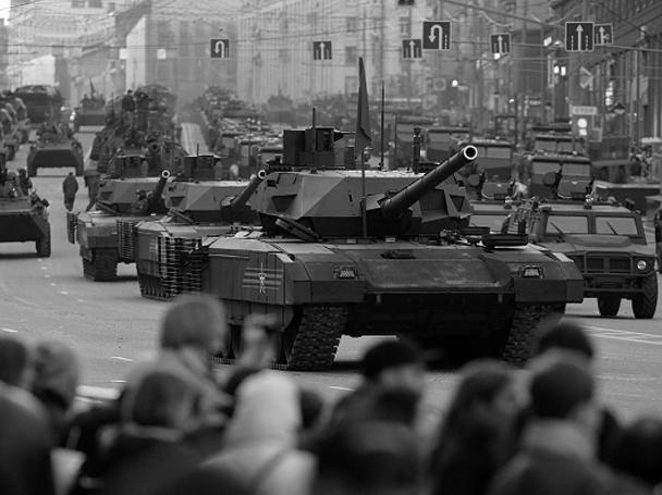 В Москве прошли уже несколько репетиций парада в ознаменование 70-летия Победы в Великой Отечественной войне 1941-1945 годов