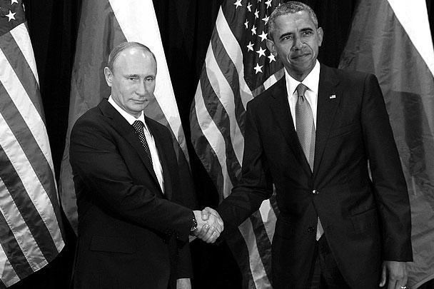 По словам наблюдавших за встречей двух лидеров журналистов, Путин был в хорошем расположении духа и улыбался, Обама, напротив, в основном был серьезен и «настроен решительно». Для этой фотографии президент США сделал исключение