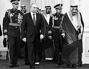Владимир Путин и король Салман в Эр-Рияде