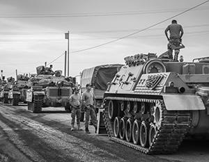 Турецкая армия крайне примитивно ведет себя в Сирии с тактической точки зрения
