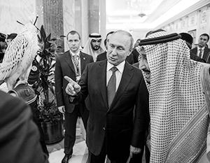 Во время визита в Саудовскую Аравию Путин подарил королю Салману охотничьего кречета