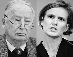 Сопредседатель «Альтернативы для Германии» Александер Гауланд и сопредседатель «Левых» Катя Киппинг