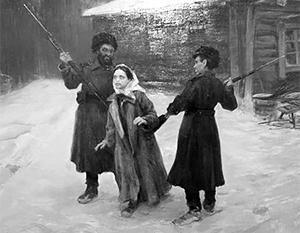 Надежду Малаксиано ведут на экзекуцию. Фрагмент картины Николая Касаткина, посвященной Карийской трагедии