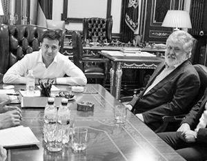 Игорь Коломойский в кабинете президента Владимира Зеленского