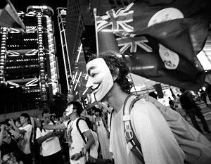 Старый флаг британской колонии стал одним из символов гонконгского бунта