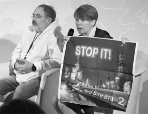 Евгения Чирикова на форуме в Вильнюсе