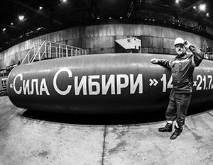 Первый трубопроводный российский газ пошел в Китай