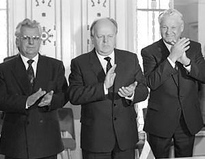 8 декабря 1991 года Кравчук, Шушкевич и Ельцин своими подписями поставили точку в истории СССР