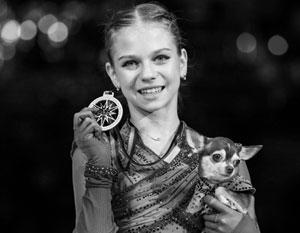 Фигуристка Трусова впервые в истории женского катания исполнила четверной флип