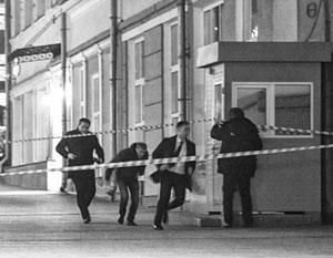 Место теракта было оцеплено сразу после нападения
