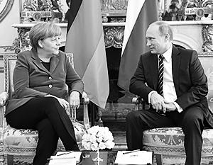 Ангела Меркель прилетит в Москву по приглашению Владимира Путина обсуждать Ближний Восток