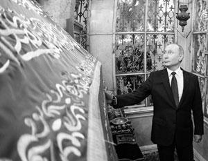 Во время поездки в Сирию 7 января Владимир Путин посетил в Дамаске мечеть Омейядов