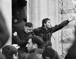 Администрация президента Абхазии была взята штурмом