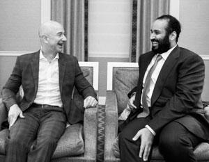 Глава Amazon Джефф Безос и наследный принц Саудовской Аравии Мухаммед бен Салман