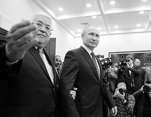 На прошлой неделе Владимир Путин посетил Палестину – с президентом Махмудом Аббасом