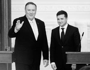 Майк Помпео и Владимир Зеленский публично улыбались - но их реальное настроение вряд ли было настолько же радужным